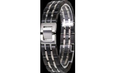 WAIDZEIT EL_W01 Armband Ebenholz und Edelstahl bebürstet