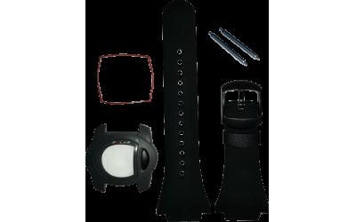 POLAR F1 und F2 Uhrband schwarz mit Gehäuse